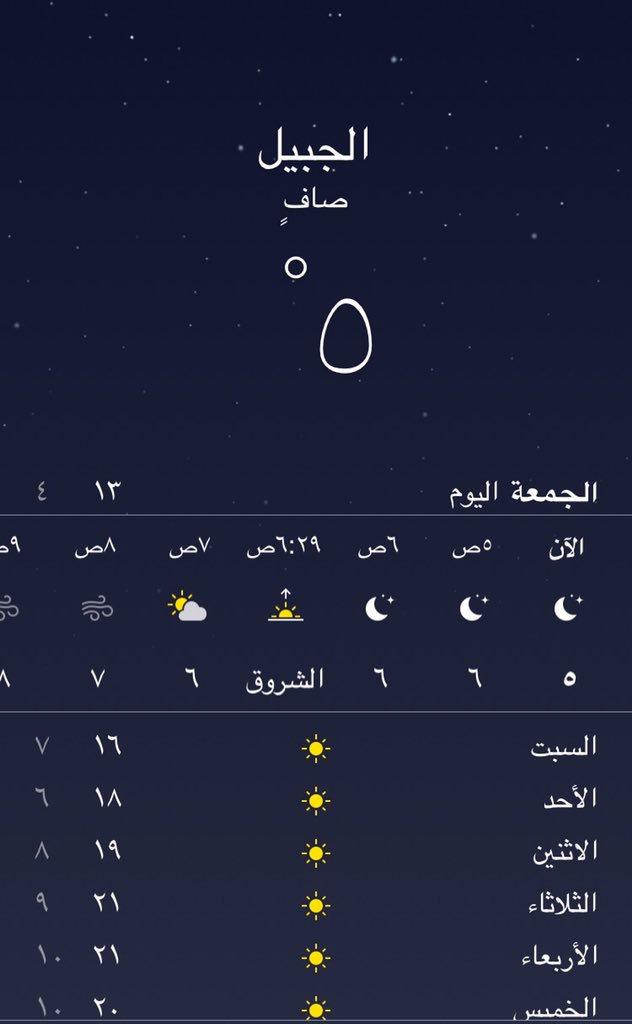 الجبيل نيوز Jubail N En Twitter درجة الحرارة في الجبيل وصلت 5 درجات مئوية والتي نشعر بها الآن صفر الشرقية الجبيل الجبيل الصناعية Https T Co Vw2yvvsf0z