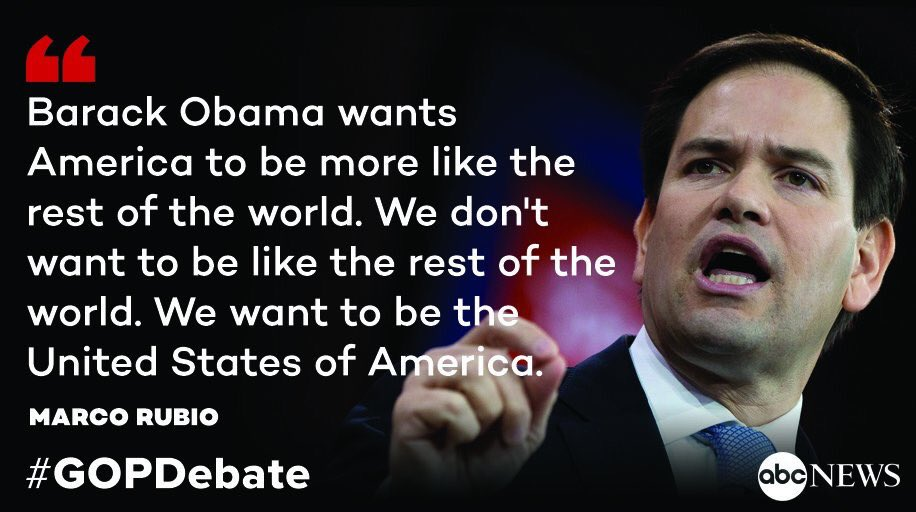 I bet this quote tests huuugge with conservatives. Keeper. #GOPDebate #TeamMarco @marcorubio @TeamMarco https://t.co/tXxjDkRBfq