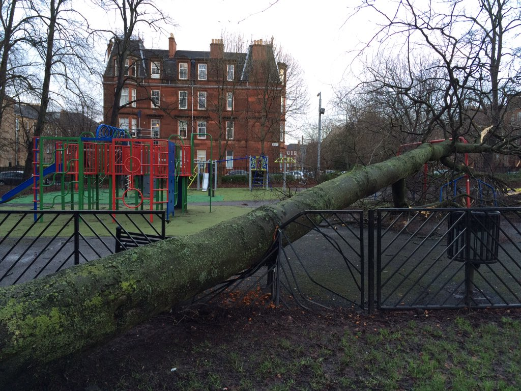 New climbing frame delivered to Queen's Park, Glasgow #StormGertrude https://t.co/UoDNzfZHce