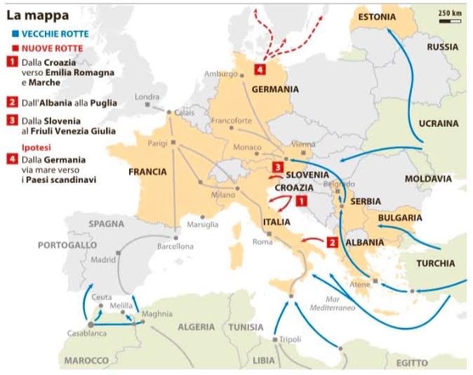 #DailyMap 29/01 Nessuna rotta. Dove passavano e dove passano migranti e profughi per arrivare in #Europa https://t.co/bYMJDzzrjF