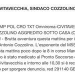 Solidarietà al sindaco #M5S di #Civitavecchia Antonio #Cozzolino per l'aggressione subita. Non ci faremo intimidire! <a href='https://t.co/QGFlaWaNI1' target='_blank'>https://t.co/QGFlaWaNI1</a>