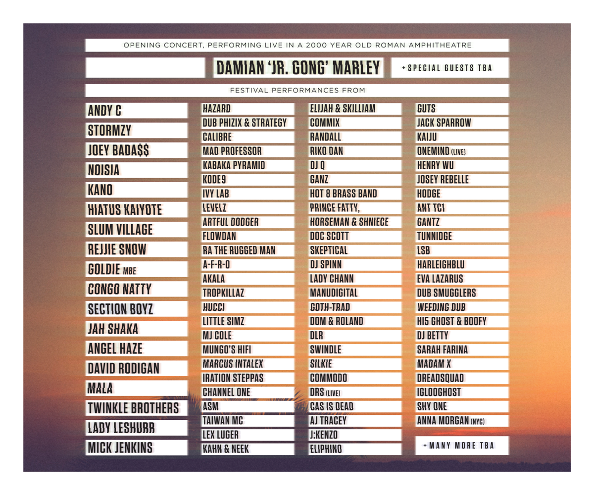 "Outlook Festival On Twitter: ""List Of The First 80 Names"