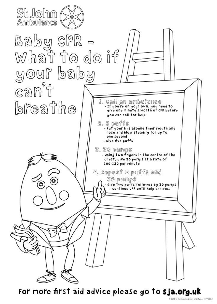 St John Ambulance On Twitter We Ve Made Some Special Colouring Pages To Help Everyone Learn Babycpr Download Yours Here Https T Co Fzmwmwvafw Https T Co D6fixnttux