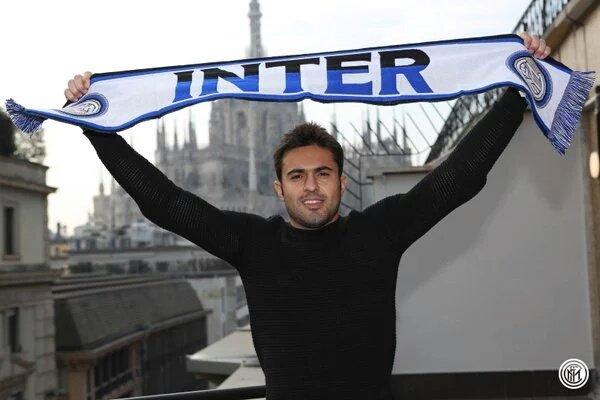 Calciomercato: Foto Eder a Milano con la sciarpa dell'Inter