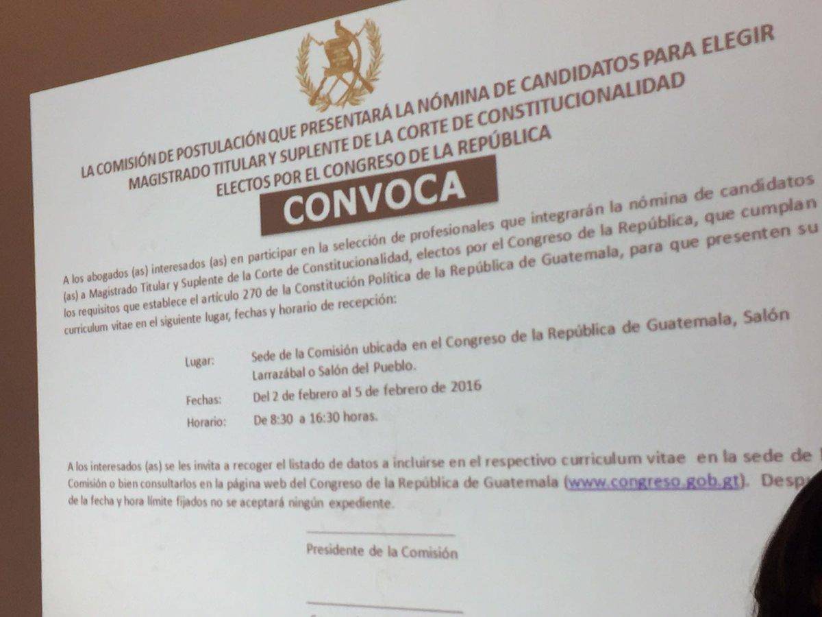 Convocatoria a elección de magistrados titular y suplente de la cc ...