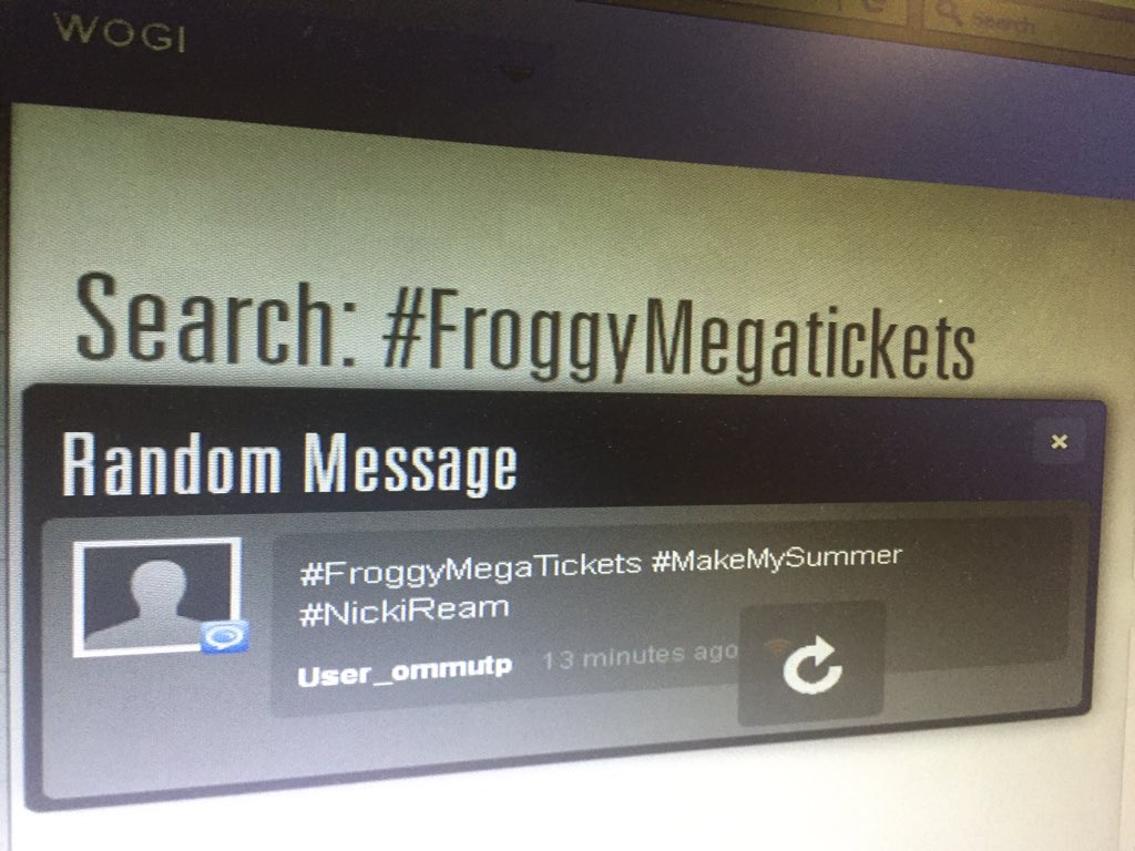 Nicki Ream of Rochester wins #FroggyMegaTickets on Froggy App @radiofroggy