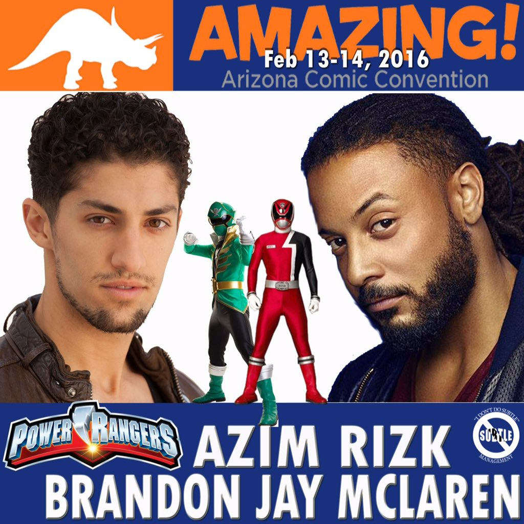 #PowerRangers @AzimRizk & @brandojay joining @AmazingComicCon- bridging Comics & PopCulture https://t.co/yjduFOSIOv https://t.co/2kJn8t1JfR
