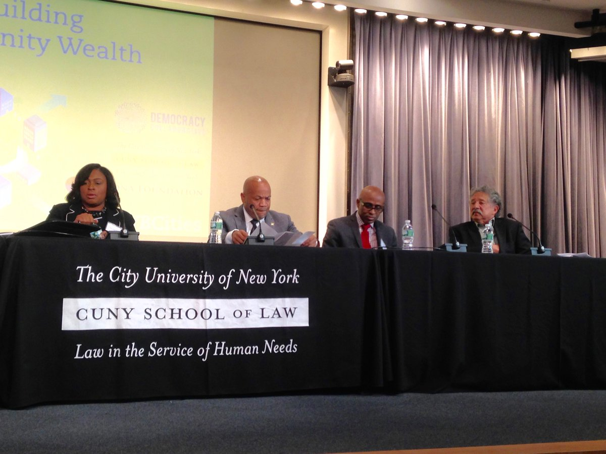 @THELovelyWarren @CarlHeastie @Bayewilson and @Paulsoglin address #CWBCities convening at @CUNYLaw #workercoops https://t.co/qlyoHvIIrQ