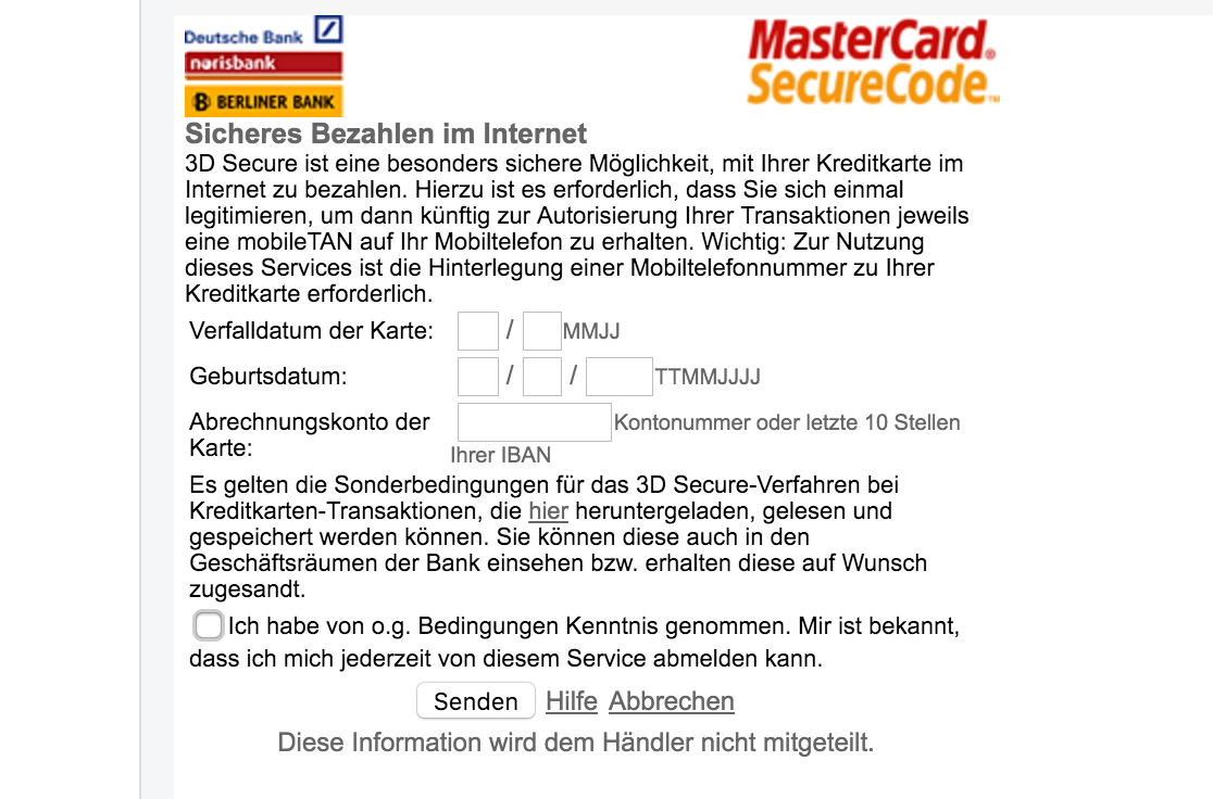 Iban Auf Karte.Frank Lämmer On Twitter The 3d Secure From Looks Like A Phishing