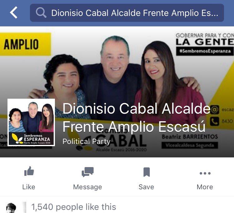El CM de don Dionisio Cabal no lo quiere. Escribe ESCASÚ y lo propuso para el año 2106. @armandomayorga @pfonsecaq https://t.co/CSw58vmNX9