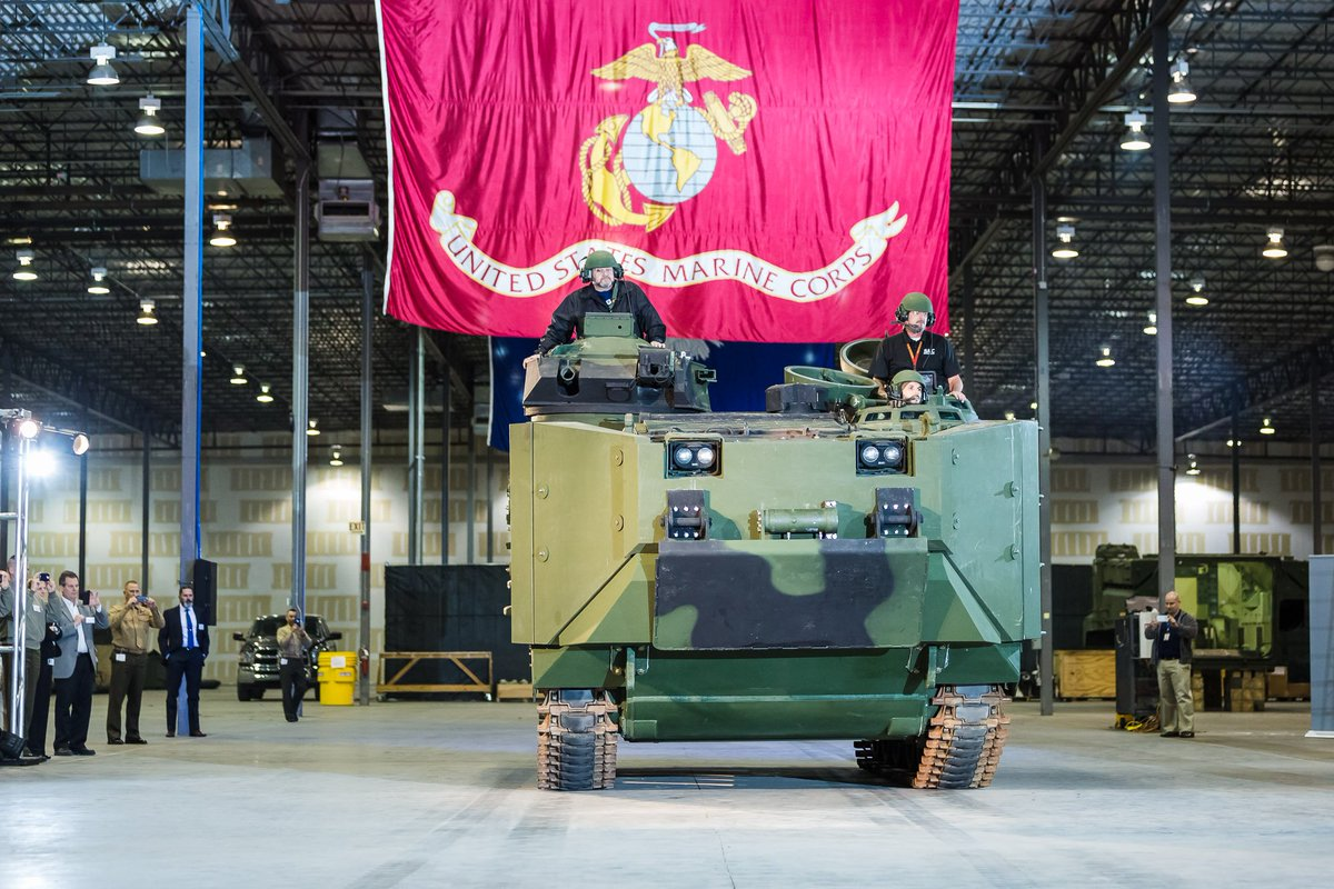 Ahead of schedule, #SAIC unveils first Amphibious Assault Vehicle Survivability Upgrade (AAV SU) to @USMC https://t.co/FBFRMJLU7s