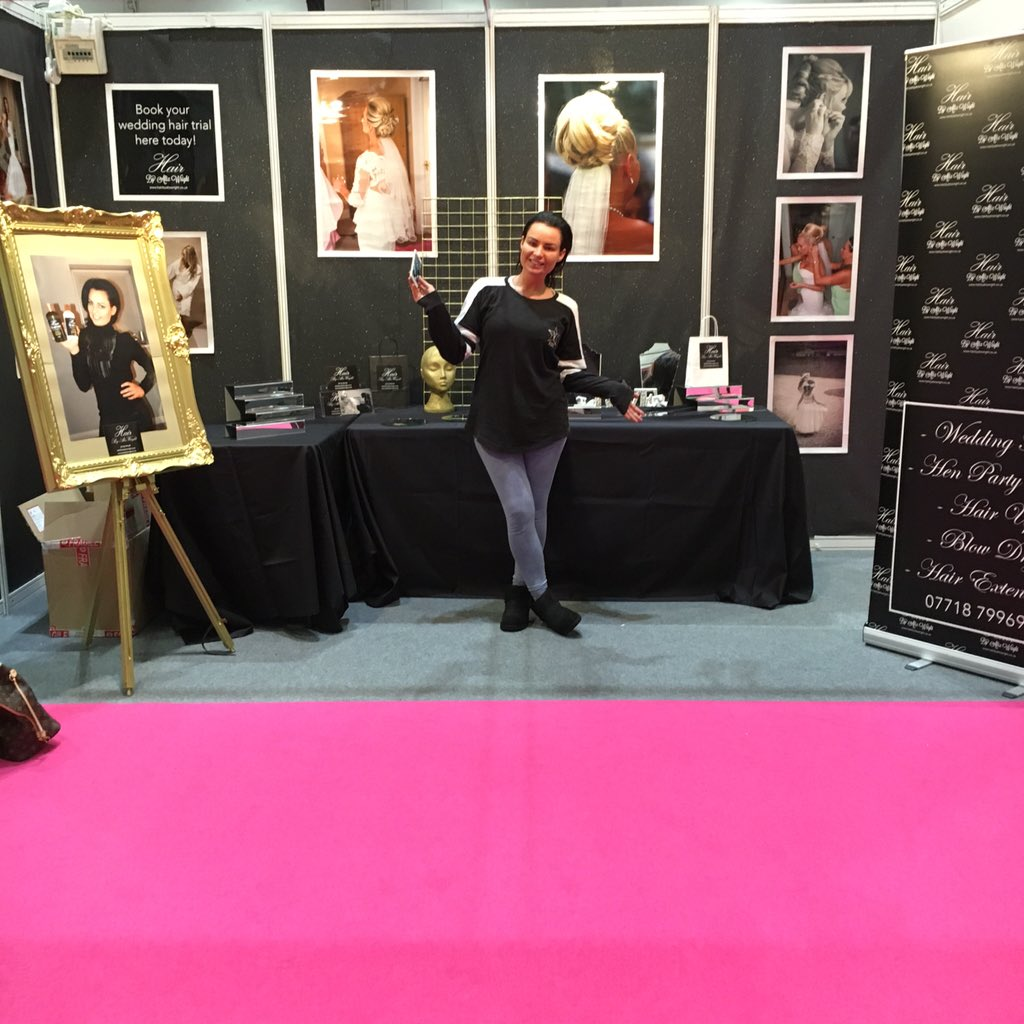 RT @janiswright1: Good luck Alix for the weekend very proud off you Hairbyalixwright stand D61 London wedding show excel https://t.co/kTLYF…