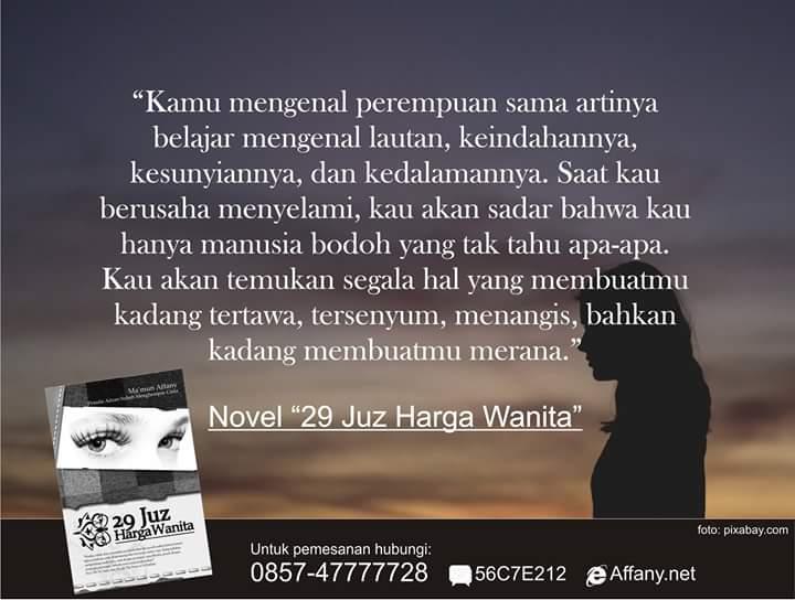 Ma Mun Affany On Twitter Mutiara Dari Novel 29 Juz Harga Wanita