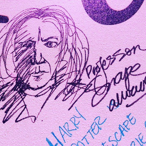A fan's rendering of Snape on our Muggle Wall at #hpcelebration! #always https://t.co/HcLC4cpw8p