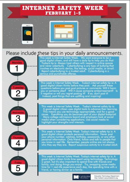 Next week is white ribbon week: Internet Safety and Digital Citizenship #csdwhiteribbonweek https://t.co/Eg9dEJr9hn
