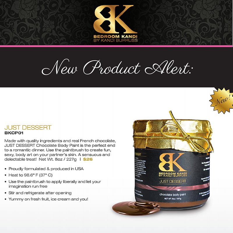 Bedroom Kandi on Twitter    NewProduct Alert  This chocolate body paint  isn t just flavored  but made with premium French chocolate. Bedroom Kandi on Twitter    NewProduct Alert  This chocolate body