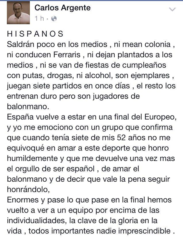 El emotivo y sincero homenaje del Vicepresidente del @bmpuertosagunto a los HISPANOS @RFEBalonmano @blazquezbalonma https://t.co/9uASEJkbwm
