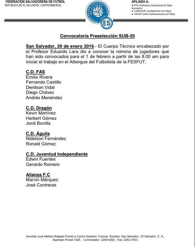 Convocatoria de La Seleccion - Febrero del 2016. CZ7Y_IJUEAADT7i