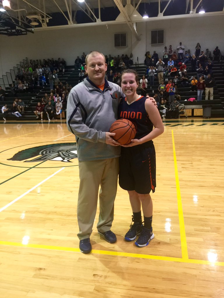 Congratulations to Kristen Bishop for scoring her 1,000th point. #GBB
