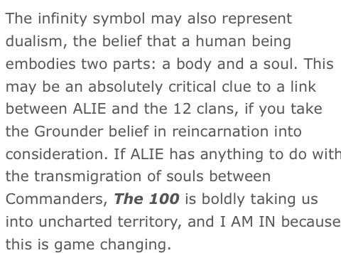 To infinity, and beyond! Analyzing the symbolism & ALIE tech featured in Ep 302 of #The100: https://t.co/6HWa0r0ioL https://t.co/Vnzrz92EG1