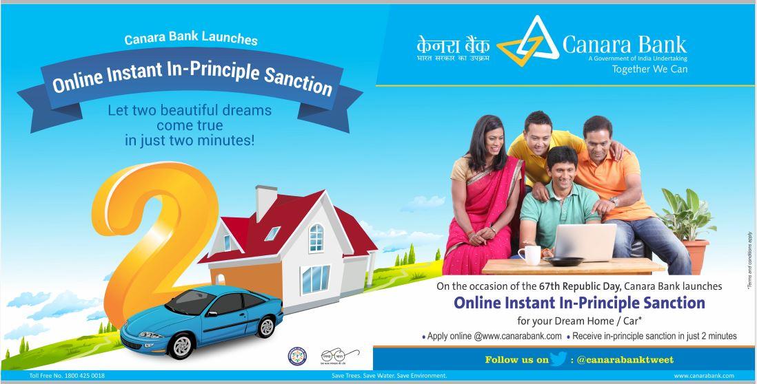 Canara bank housing loan procedure