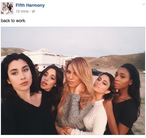 From @FifthHarmony's Facebook page!!!! #BackToWork #Yes