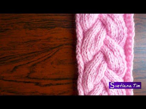 африканская коса вязание спицами