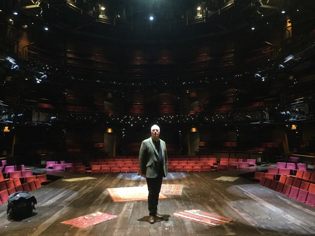 Owen Brenman (Dr Heston Carter) on the stage at the RSC Stratford-upon-Avon in a break in filming on Friday 29th January 2016.