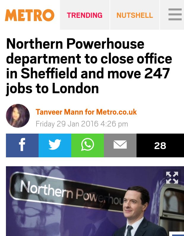 Osborne confirms that when he says Northern Powerhouse he means North Westminster. https://t.co/6PTUX6hwmU