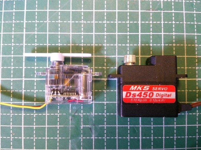 HiTEC HS-35HD と MKS DS450