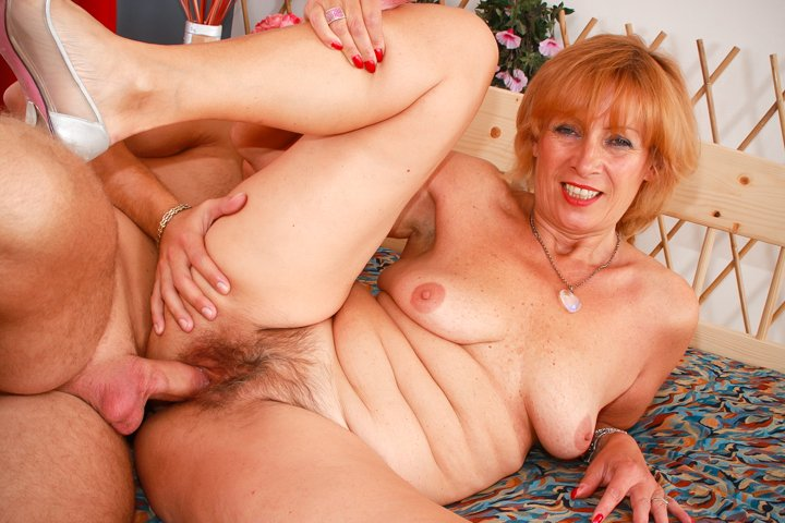 old ginger granny naked