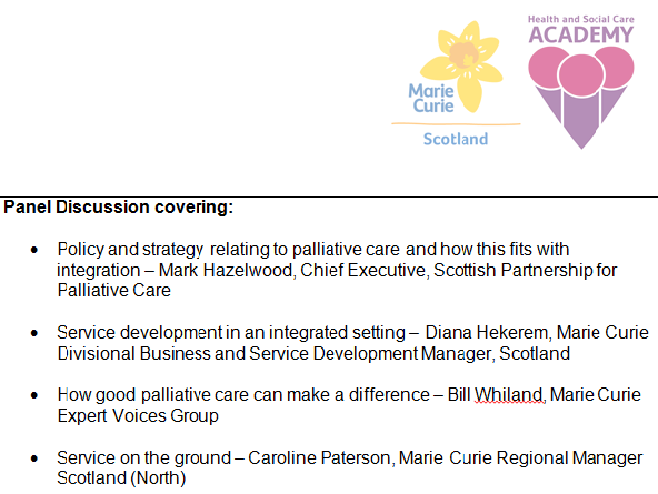 Do you have a question for our panel at today's event 3pm-5pm today? Tweet using #palliativecarescot https://t.co/7CDBHlyj5I
