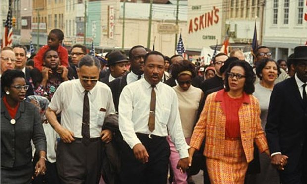 Dr. King, marching, in full color. https://t.co/zTwJtR9dXi