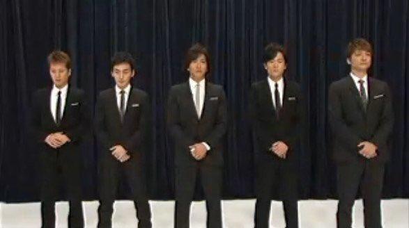 スーツ姿で5人が並んでる姿が映った時、こっちの楽しい展開を期待しちゃったんだけどなー https://t.co/vjpcngnf6g
