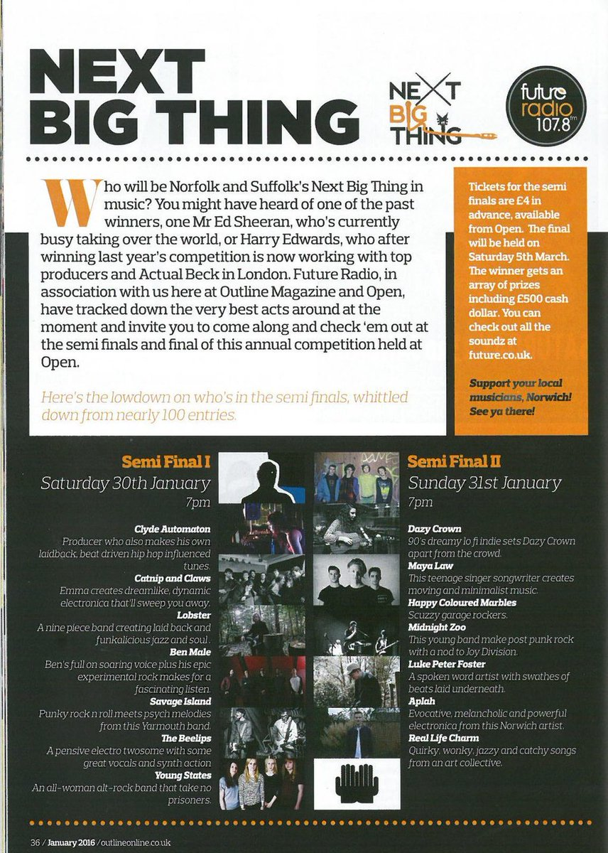 Please share #NextBigThing semi-finals 30th & 31st of Jan at @OPENNorwich @OutlineNorwich #NorwichHour #NorfolkHour https://t.co/M1dXvz4JoZ