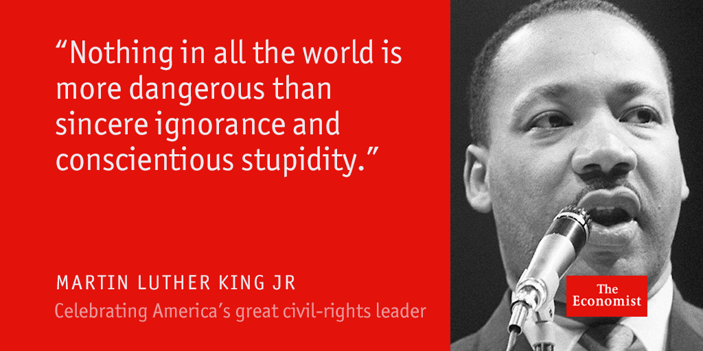 Martin Luther King Jr made equality obvious—perhaps inevitable #EconArchive https://t.co/501tR2rncm https://t.co/MkcN7TjHlU