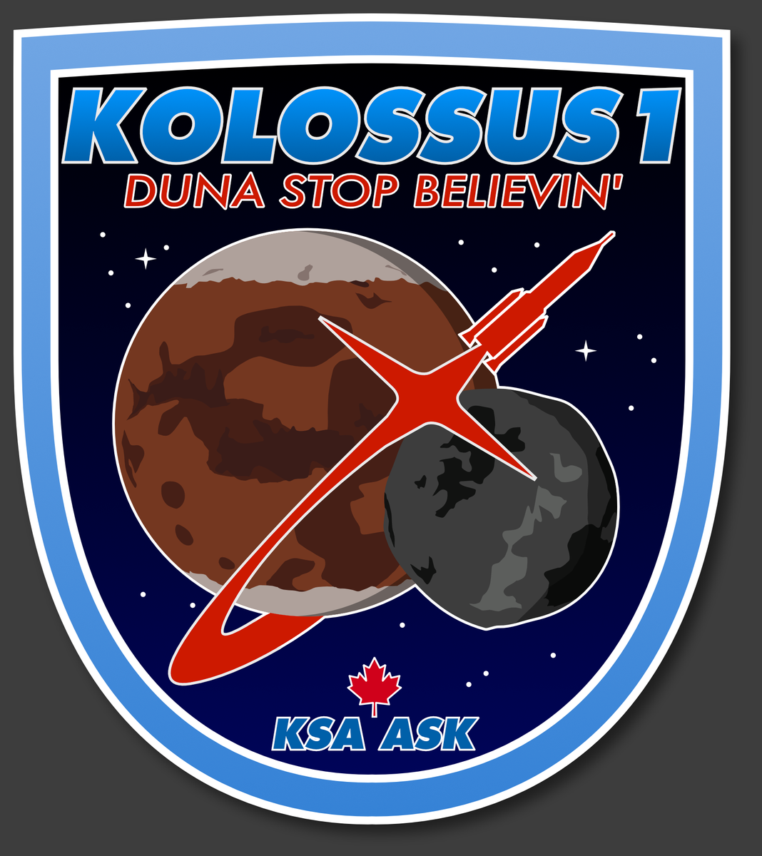 Kerbal Space Program On Twitter Gravitas Shortfalls Mission Patch For An Upcoming Trip To Duna This Looks Cool KSP Tco Lc746OBDvu
