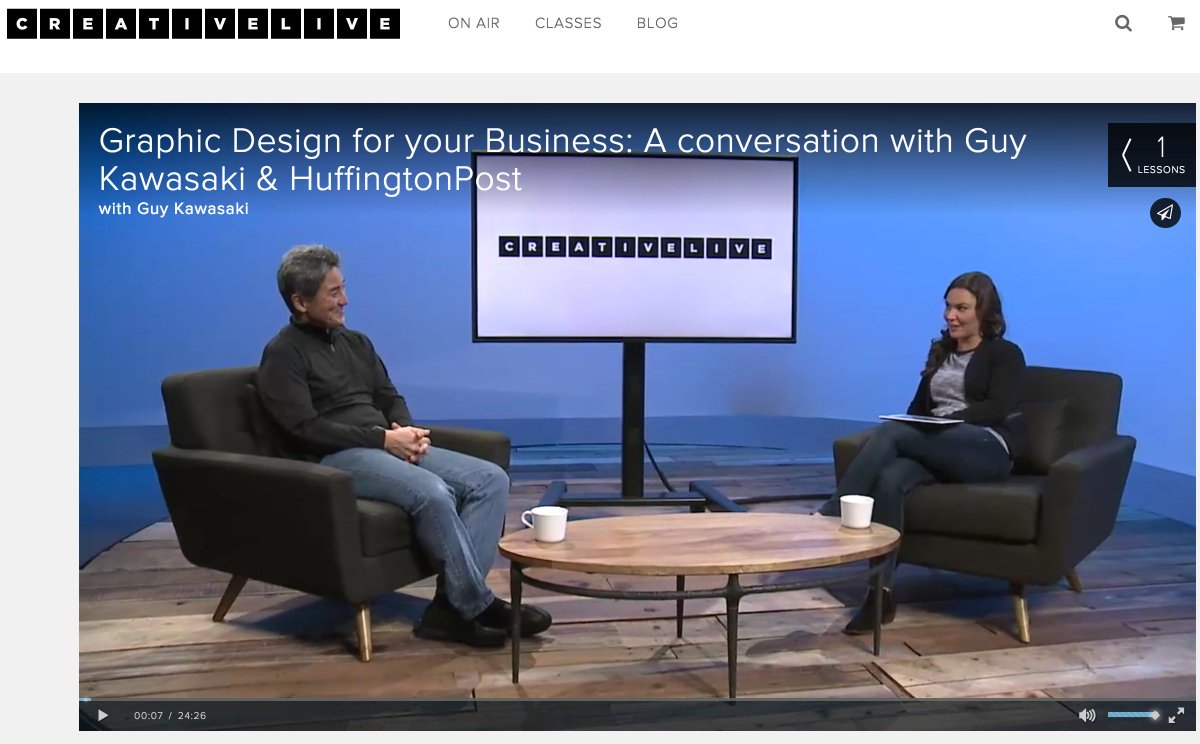 #GraphicDesign for your Business: A conversation on @CreativeLive w/ @HuffingtonPost https://t.co/IslhZiKomx