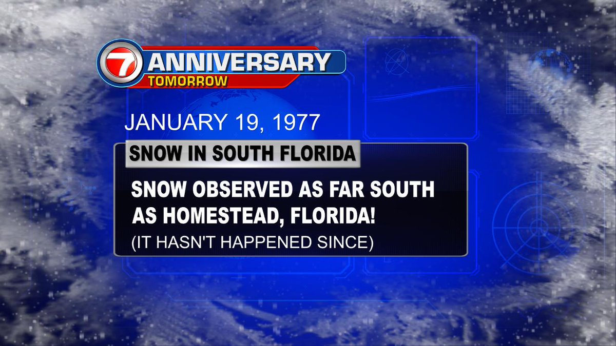 Snow Anniversary #SoFla @7Weather https://t.co/OtJPVchhdH