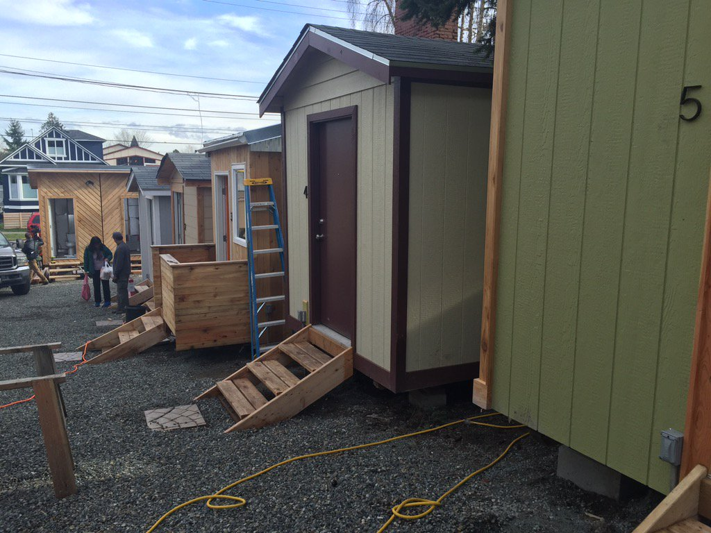 Tiny village aims to give Seattle's homeless a better place to live