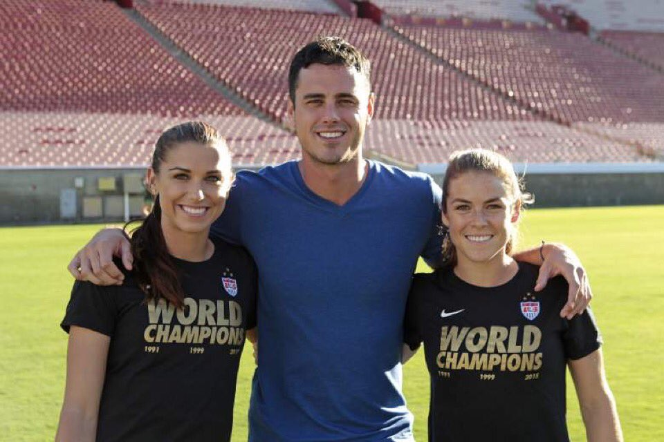 Tried our best to help out @benhiggi dates in the soccer department. Tune in to @BachelorABC to see the outcome