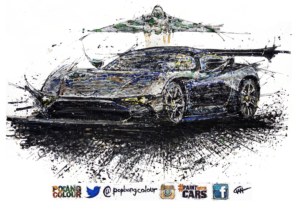 If you missed it, here's the @astonmartin Vulcan & @XH558 created as a @Popbangcolour artwork @Autosport_Show #ASI16 https://t.co/CmQHmjPeAy