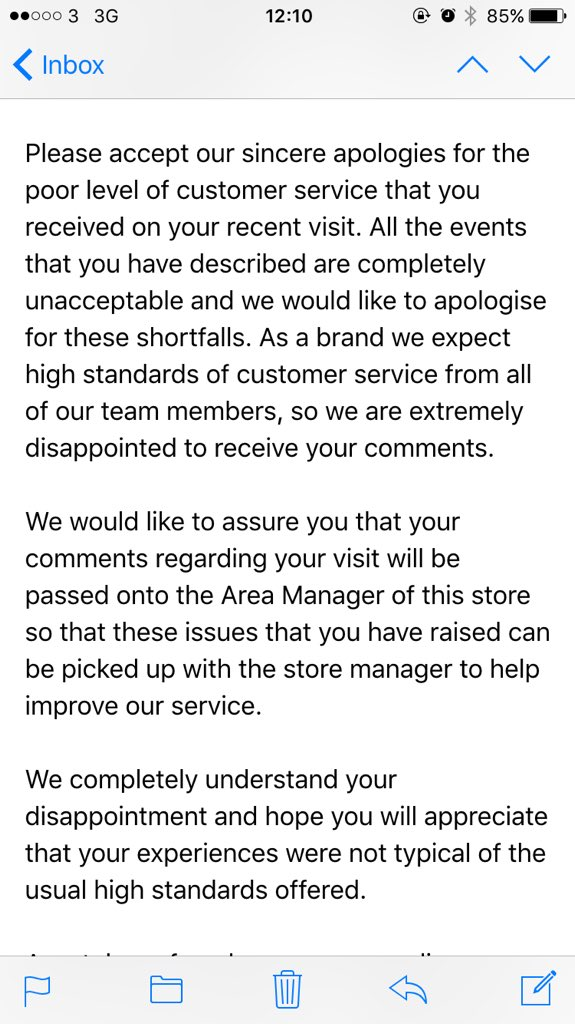 My complaint to @CostaCoffee has clearly been ignored and I've been given a 'standard response' - this is shocking. https://t.co/10cHceQuRA