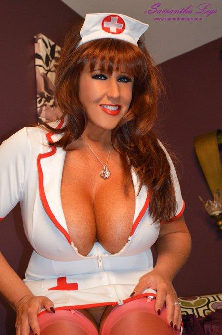 Happy Titty Tease Tuesday!! #nurse #redhead #MILF #hugetits #boobs https://t.co/sjROWRutrf