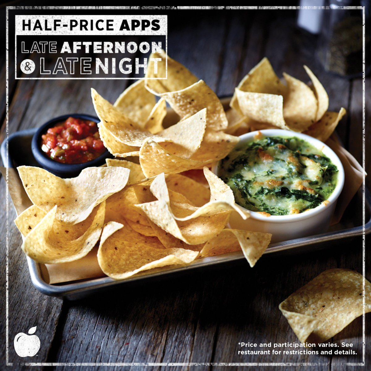 Applebee S Grill Bar On Twitter Spinach Artichoke Dip Mozzarella Sticks Or Boneless Wings The Answer Is All 3 Halfpriceapps Https T Co Yozkp5z24a