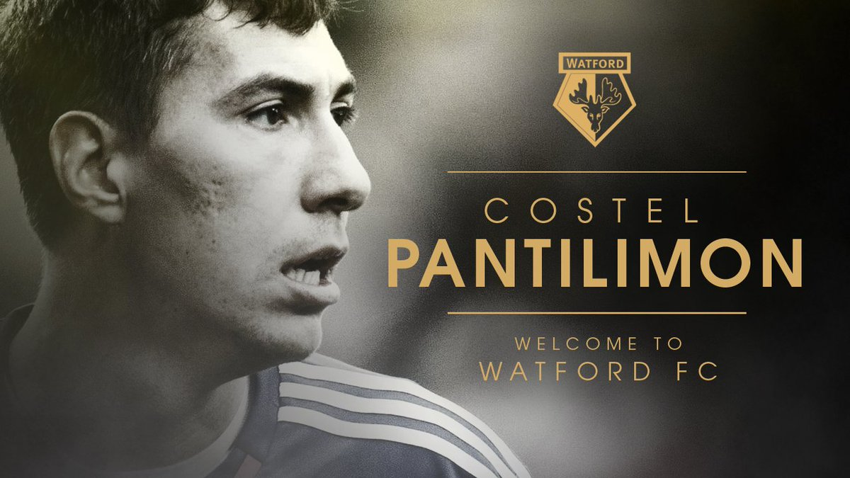 OFFICIAL: #watfordfc is pleased to confirm the signing of keeper Costel Pantilimon on a 3.5 yr deal from Sunderland https://t.co/WMYlkHpjOw