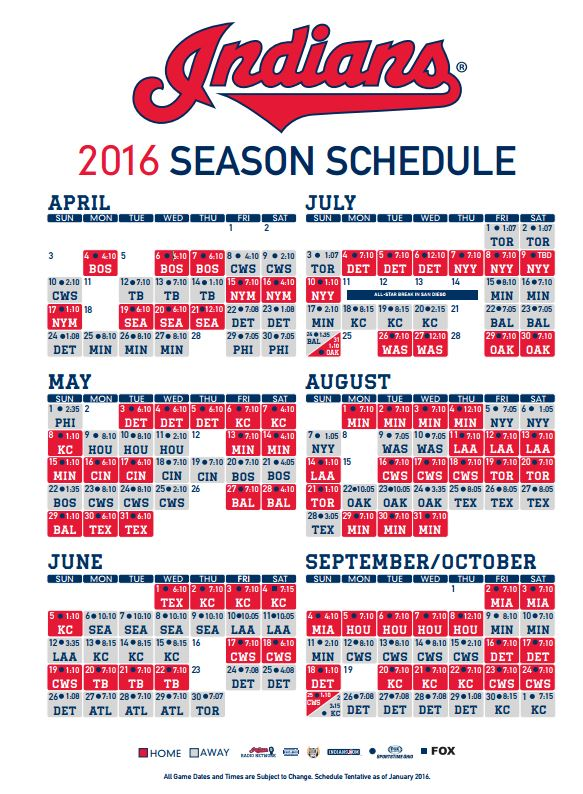 graphic regarding Indians Schedule Printable called Cleveland Indians upon Twitter: \