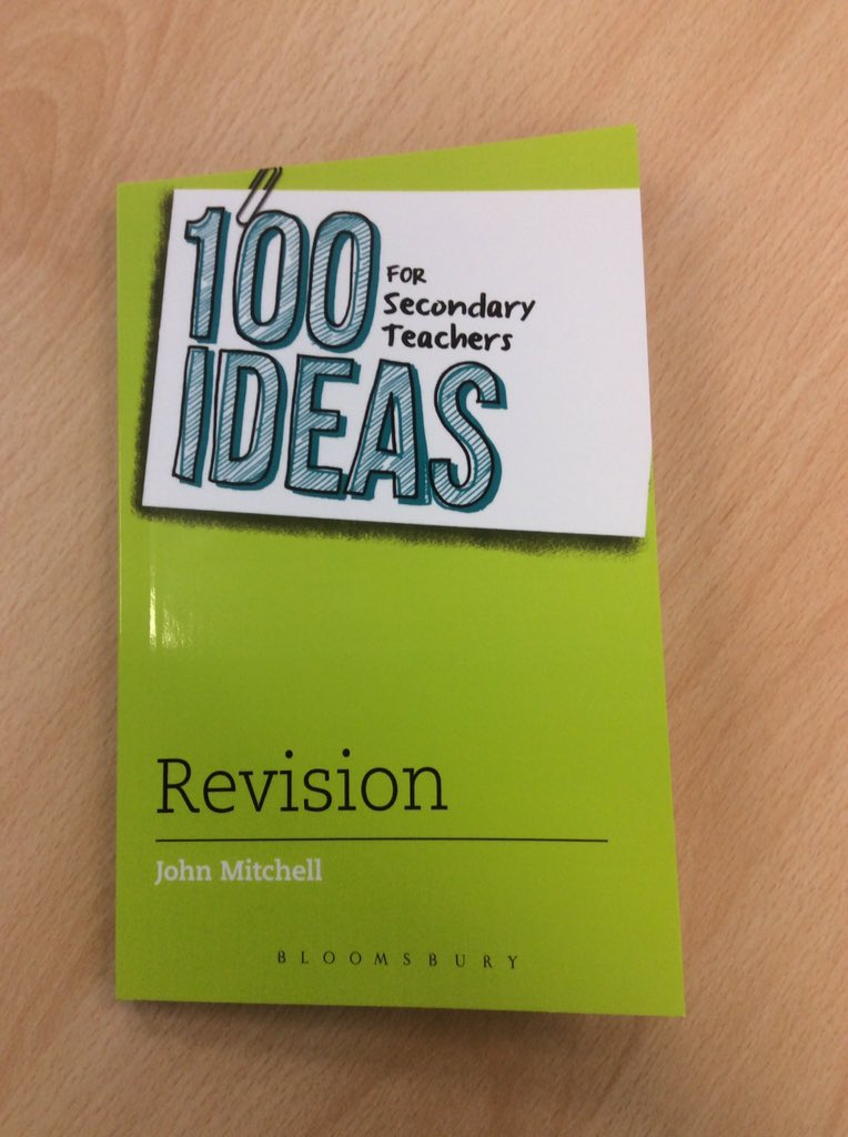 Very proud to receive the first copies of my #100ideas book on revision from @BloomsburyEd. Out next week! https://t.co/el1VA4dZ4h