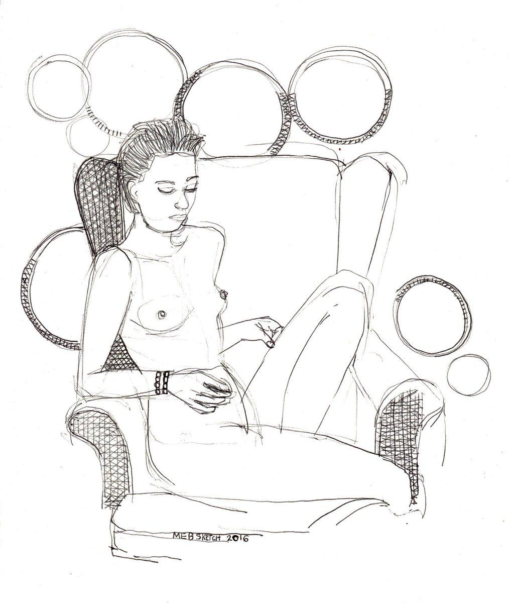 'nude in chair' #art #sketchJanuary #sketch #drawing #draw365 #BigArtBoost #kunst #portrait https://t.co/zZz5OZlSzu