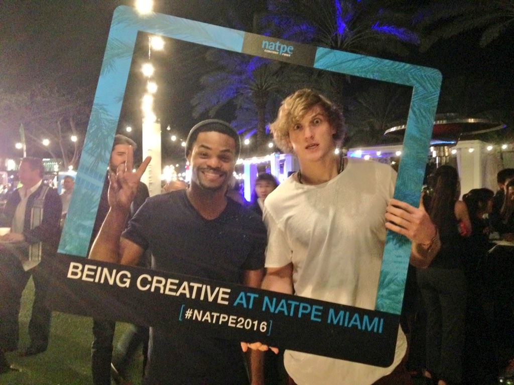 We caught @LoganPaul and @KingBach hanging out at the Opening Night Party! #NATPE2016 https://t.co/xbXCEAnN5k